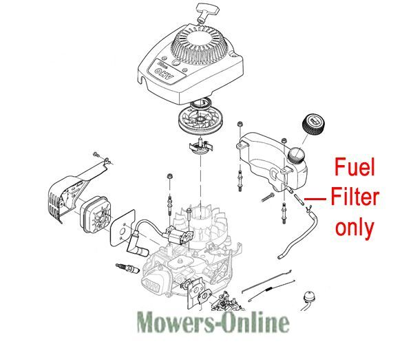 mountfield rs100 fuel filter 118550715  0 hp414 sp414 hp164