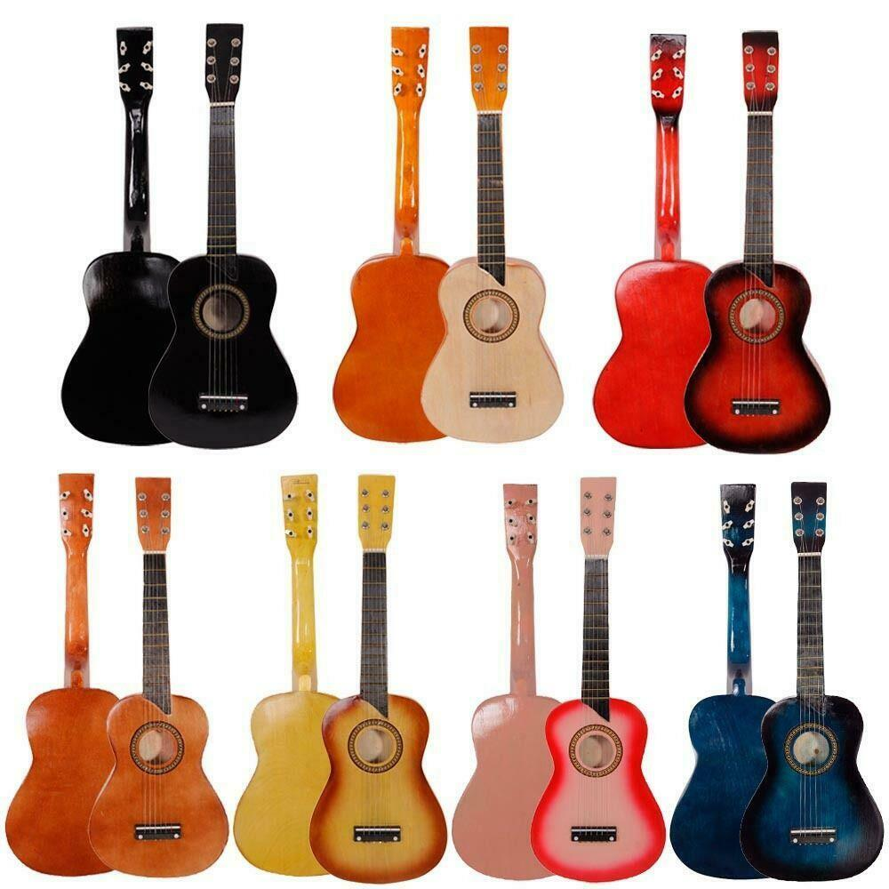 8 colors 25 beginners kids acoustic guitar 6 string w pick children kids gift ebay. Black Bedroom Furniture Sets. Home Design Ideas