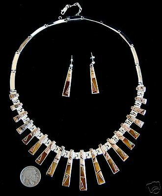 native american handmade calvin begay sterling with inlay