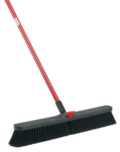 Libman Black Pet Fine Sweeping Push Broom With Handle 801