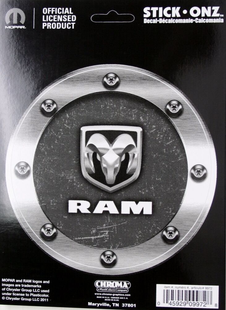 dodge ram truck sticker decal logo vinyl gas fuel lid cap head mopar pickup 5 25