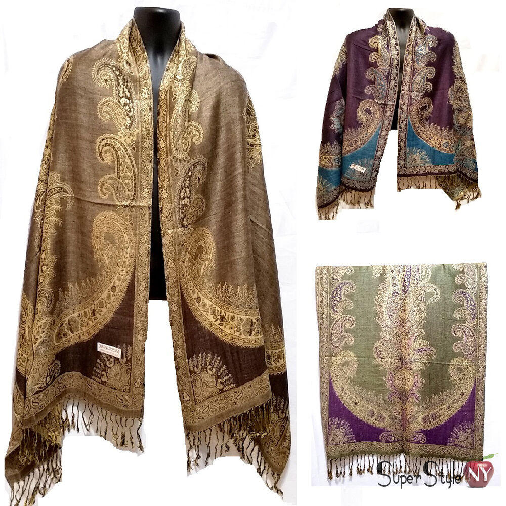 how to wear a pashmina scarf as a shawl