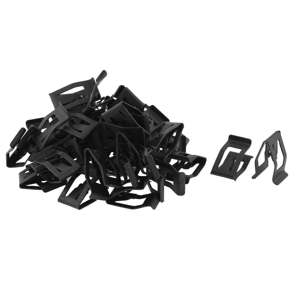 50pcs auto car front interior console dash dashboard trim metal retainer ebay. Black Bedroom Furniture Sets. Home Design Ideas