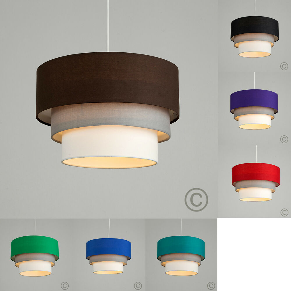 Ceiling Lamp Shade Doesn T Fit: MiniSun 3 Tiered Fabric Ceiling Pendant Light Shade Easy