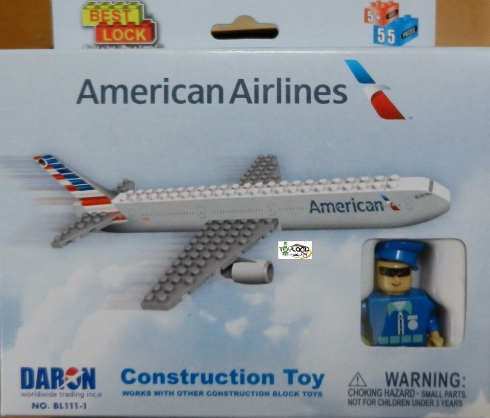 Construction Toy American Airlines Airplane 757 Building
