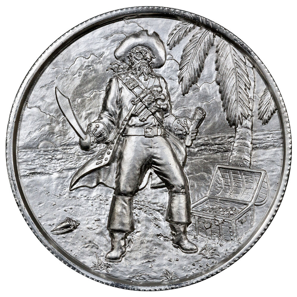 Elemetal Mint 2 Oz Silver Privateer Ultra High Relief
