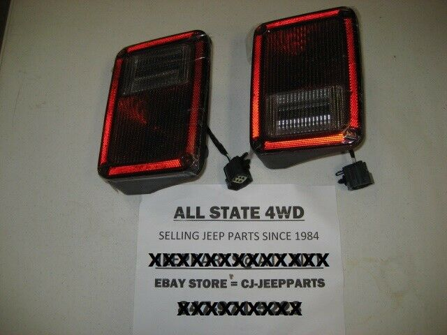 jeep wrangler jk 2007 2015 pair rear tail light lamp assy with wiring lens ebay. Black Bedroom Furniture Sets. Home Design Ideas