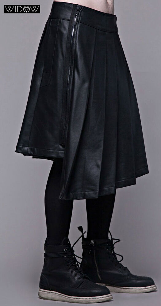Lip Service Widow Waxed Leather Look Tartan Gothic Pants
