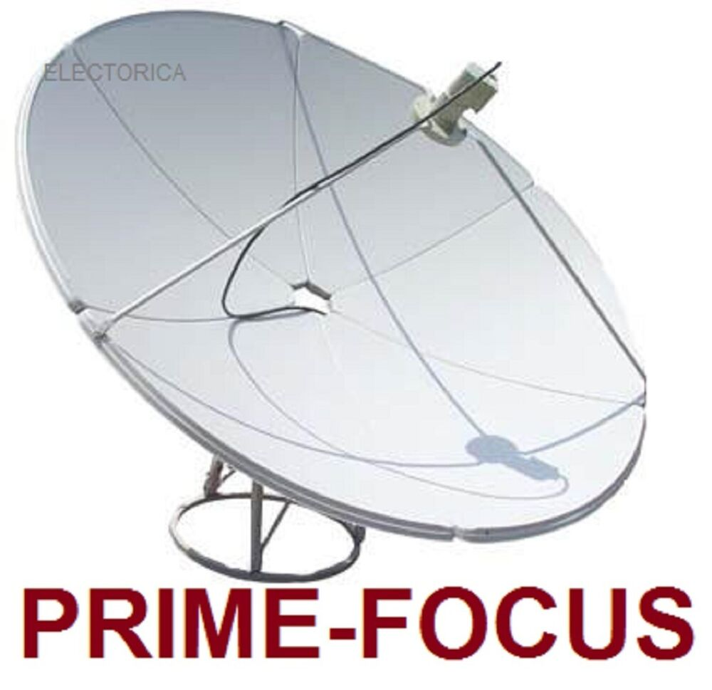 m prime focus satellite c ku band dish antenna 165 cm w pole fta ebay. Black Bedroom Furniture Sets. Home Design Ideas