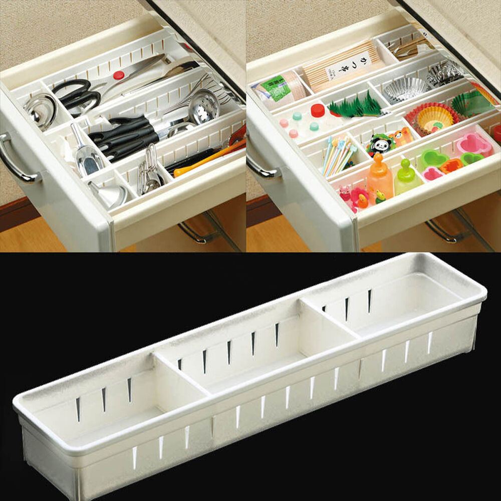 kitchen organisers storage adjustable drawer storage organizer kitchen cutlery 2352