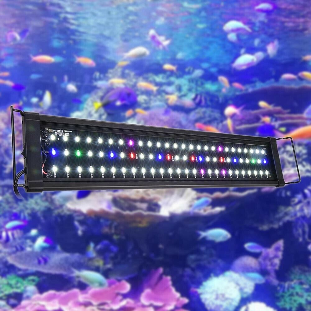 aquarium full spectrum multi color led light 0 5w 78 led for 24 30 fish tank ebay. Black Bedroom Furniture Sets. Home Design Ideas