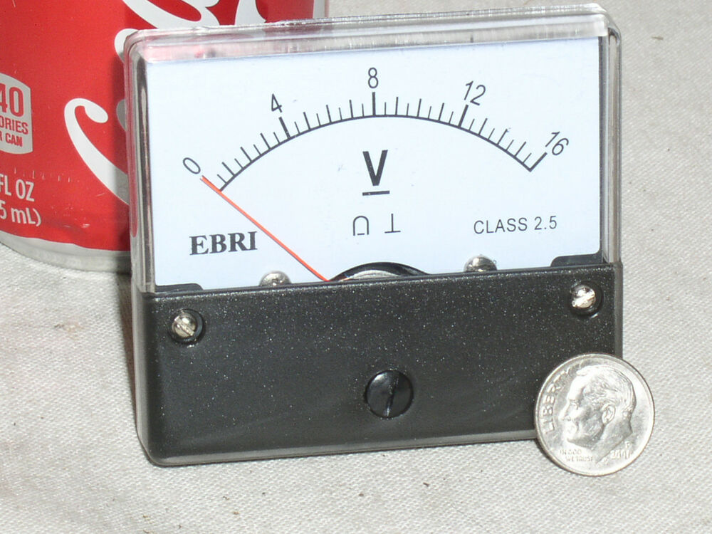 12 Volt Panel Meter : New v dc volt big face analog panel meter rv