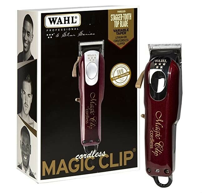 wahl 8148 five star magic clip cordless clipper pro barber tool ebay. Black Bedroom Furniture Sets. Home Design Ideas