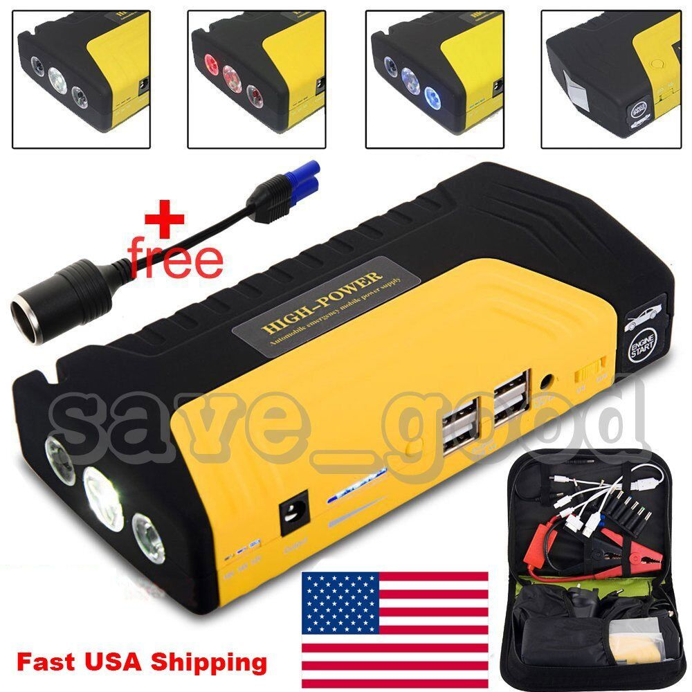 68800mah 4usb car jump starter emergency charger booster power bank battery sos ebay. Black Bedroom Furniture Sets. Home Design Ideas
