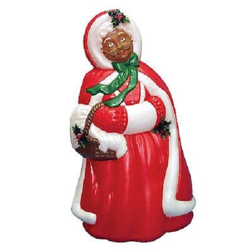 Christmas blow mold yard decoration mrs santa claus plastic light up