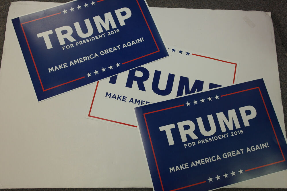 donald trump for president 2016 new campaign posters 3 blue and white ebay. Black Bedroom Furniture Sets. Home Design Ideas