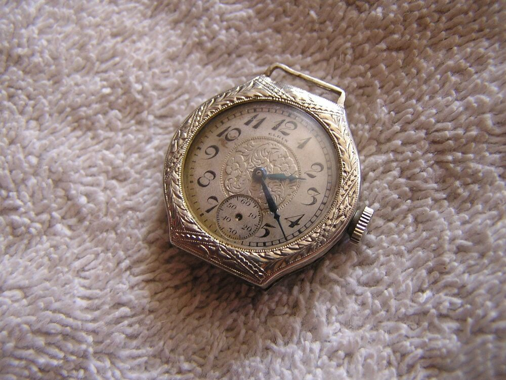 ELGIN Watch, Art Deco Elgin Watch, 10K RPG Watch, Diamond ...