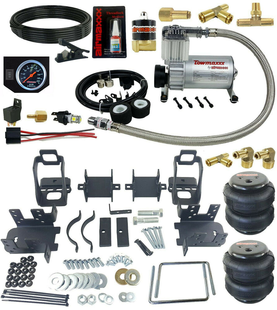 rear suspension air bag towing kit with on board
