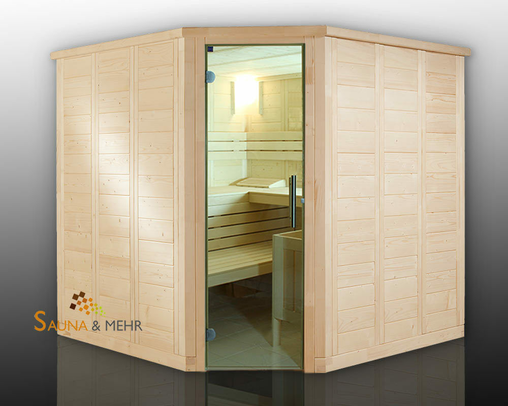 massivholz komplett sauna wood line classic eck 204x204. Black Bedroom Furniture Sets. Home Design Ideas