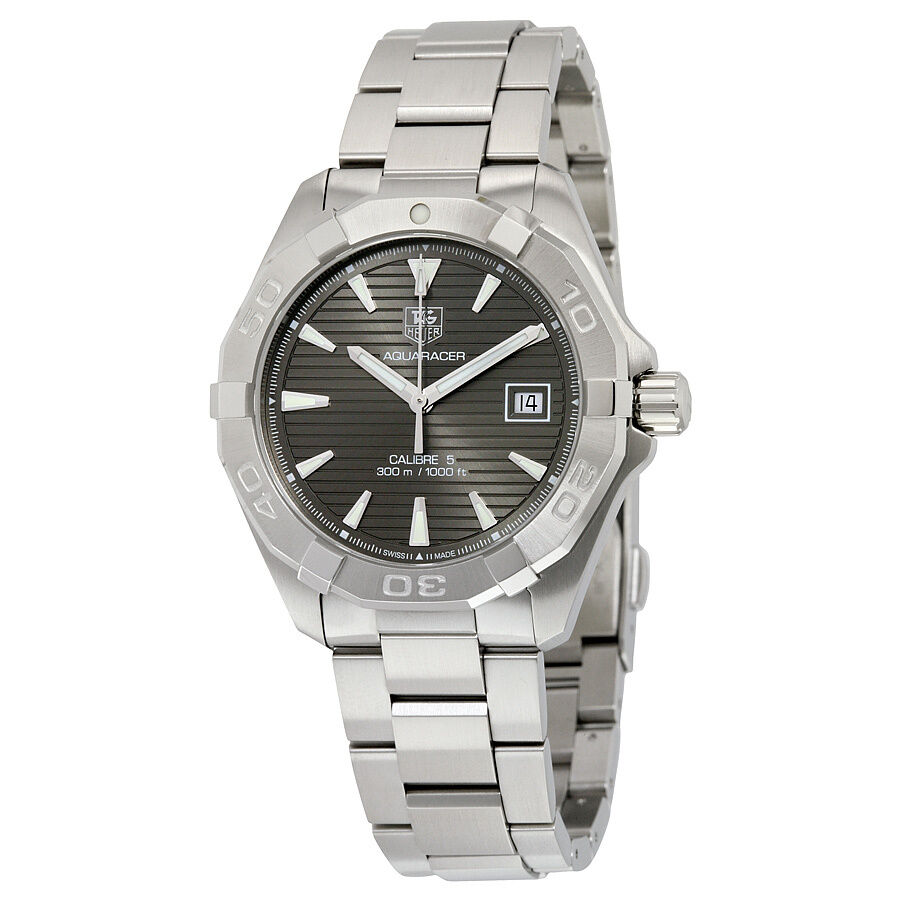 Tag heuer aquaracer stainless steel mens watch way2113 ba0928 ebay for Tag heuer aquaracer