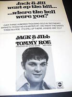 TOMMY ROE 1969 Promo Poster Ad JACK & JILL mint cond.