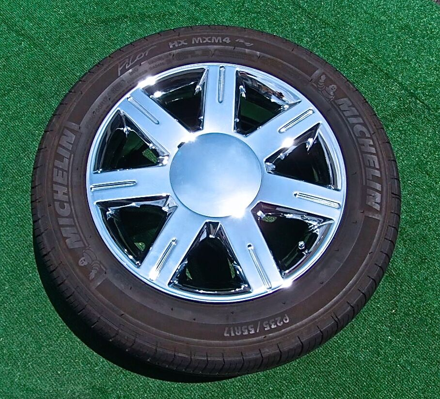 4 OEM Factory GM Style CHROME Cadillac WHEELS TIRES DTS