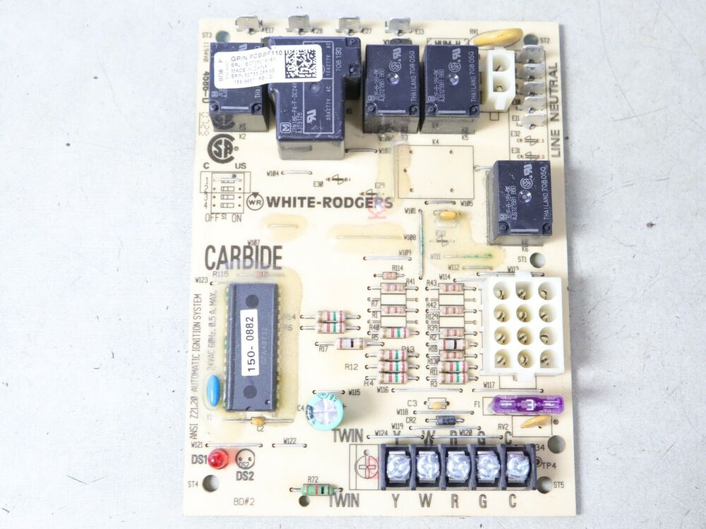 White Rodgers Pcbbf110 Furnace Control Circuit Board 50t55