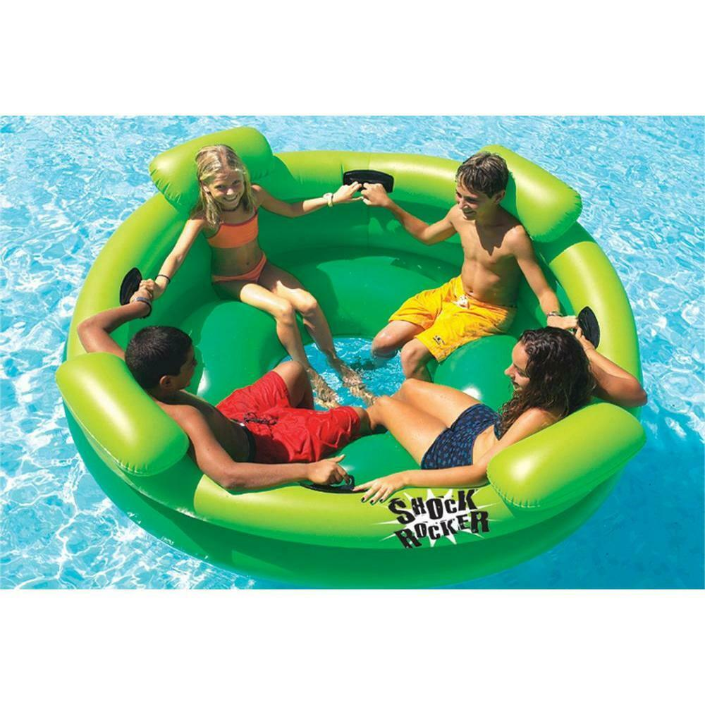 KIDS 4 PERSON INFLATABLE SWIMMING POOL LOUNGER FLOAT