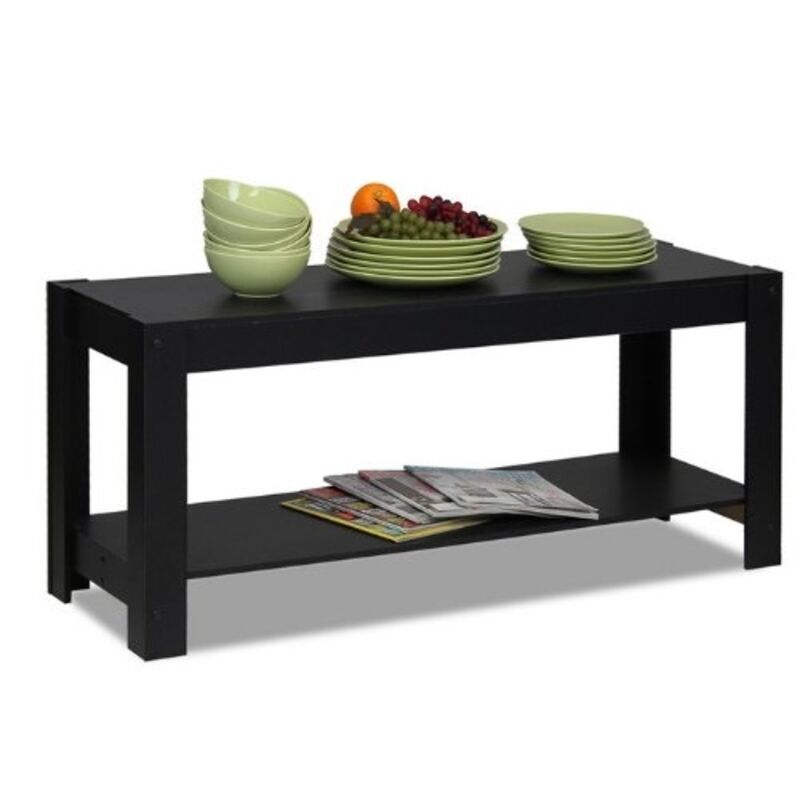 Furinno Parsons Entertainment Center TV Stand/Coffee Table