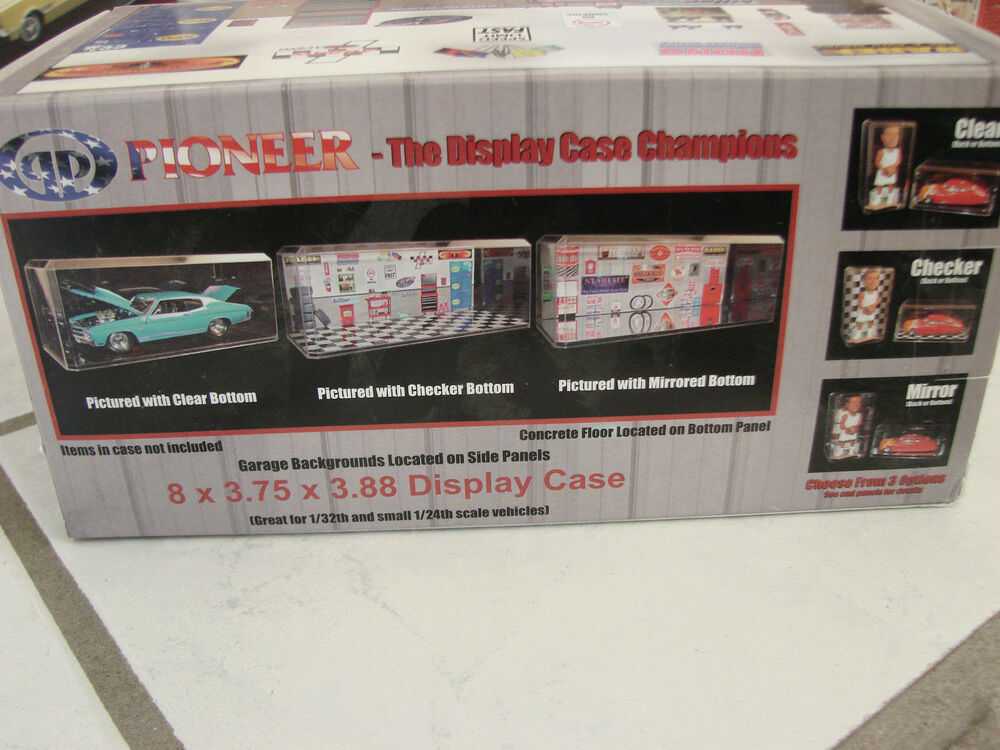 2 pioneer display case lot champions garage backgrounds for Garage costruito case