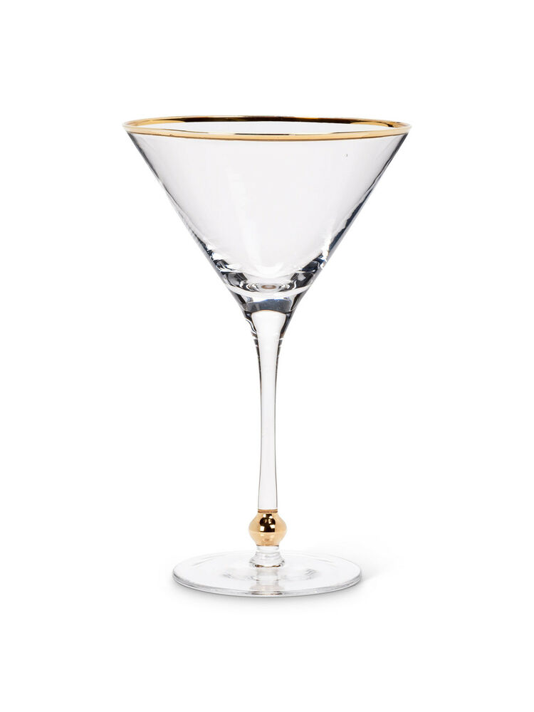 Gold ball rim 8 5 clear glass 16oz cocktail martini for Cocktail 8 5