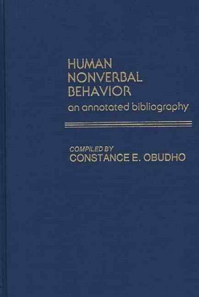 annotated bibliography on nonverbal communication