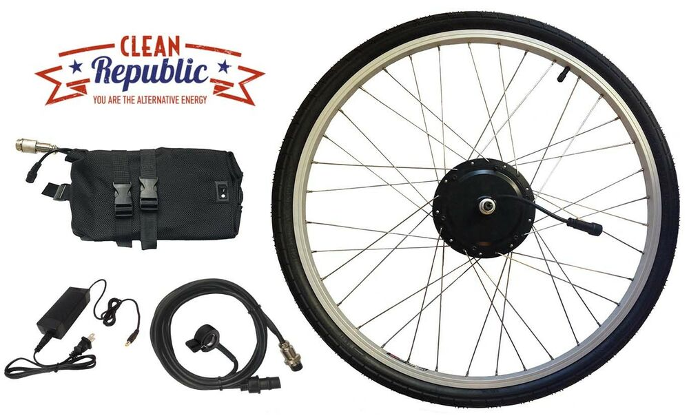 electric bike conversion kit 350 watt 36 volt 20 mile lithium battery ebay. Black Bedroom Furniture Sets. Home Design Ideas