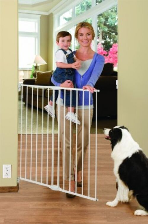 Doorway Safety Gate Extra 6x56 Inch Tall Wide Baby Kid