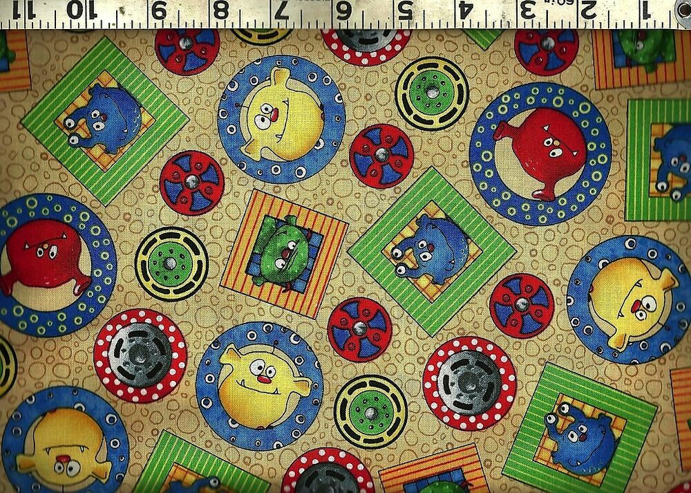Quilting treasures monster truck mania coordinate 100 for Cotton quilting fabric