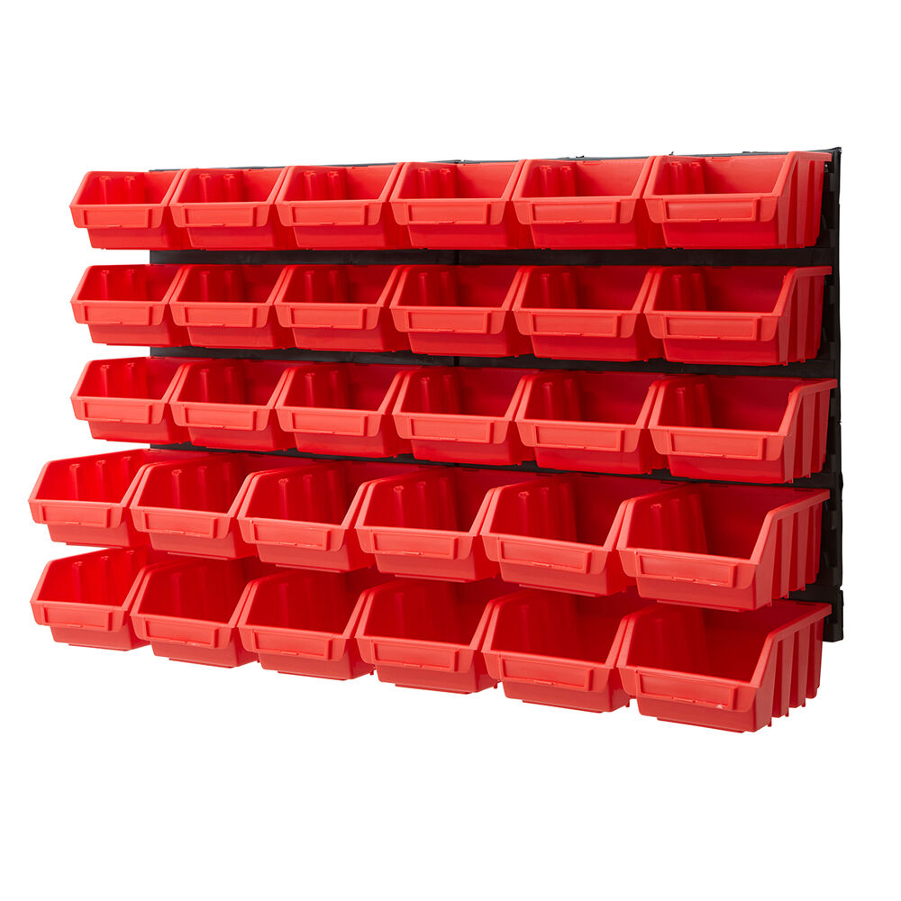 Plastic Bin Kit Wall Garage Storage Parts Bins Tool Diy