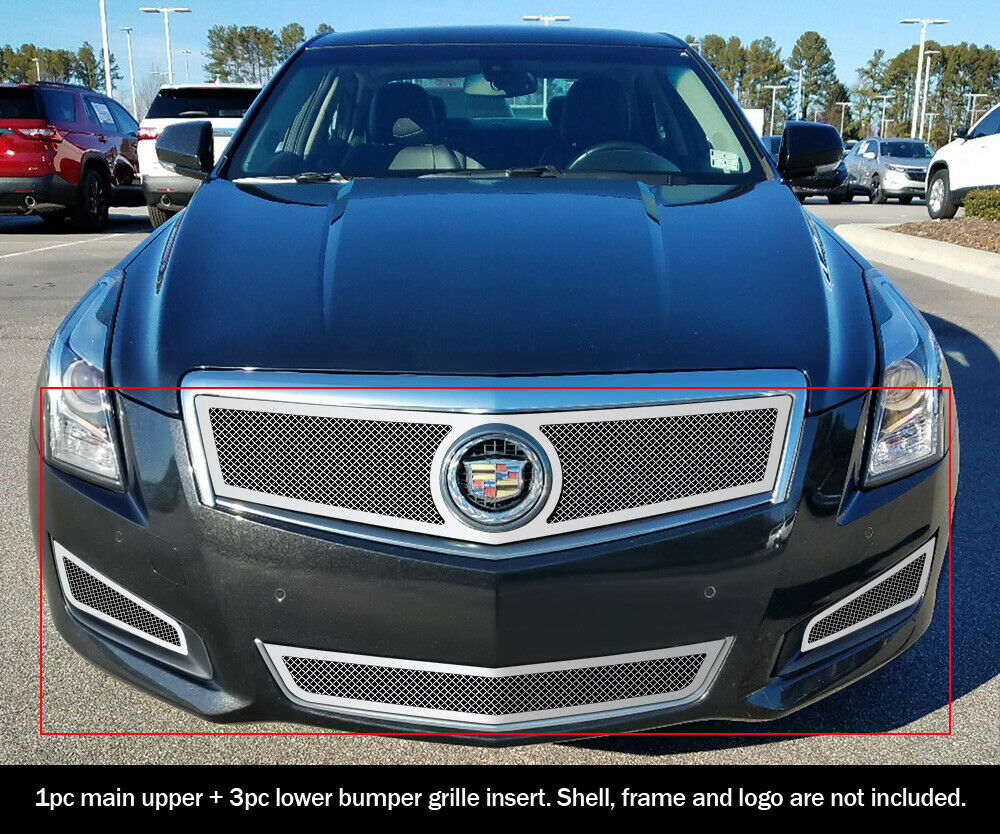 for 2013 2014 cadillac ats w fog light cover stainless. Black Bedroom Furniture Sets. Home Design Ideas