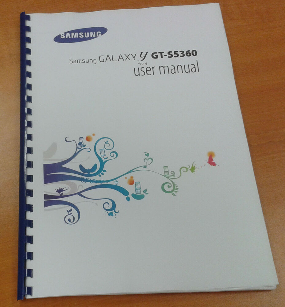 SAMSUNG GALAXY Y S5360 135 PAGES FULL PRINTED USER MANUAL GUIDE INSTRUCTIONS  A5 | eBay
