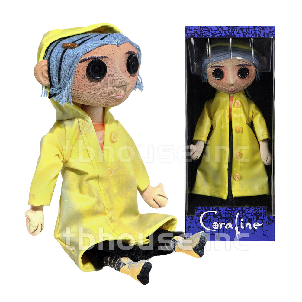 "Details about   10"" CORALINE doll RAINCOAT poseable REPLICA PROP toy RAIN COAT neil gaiman NECA"