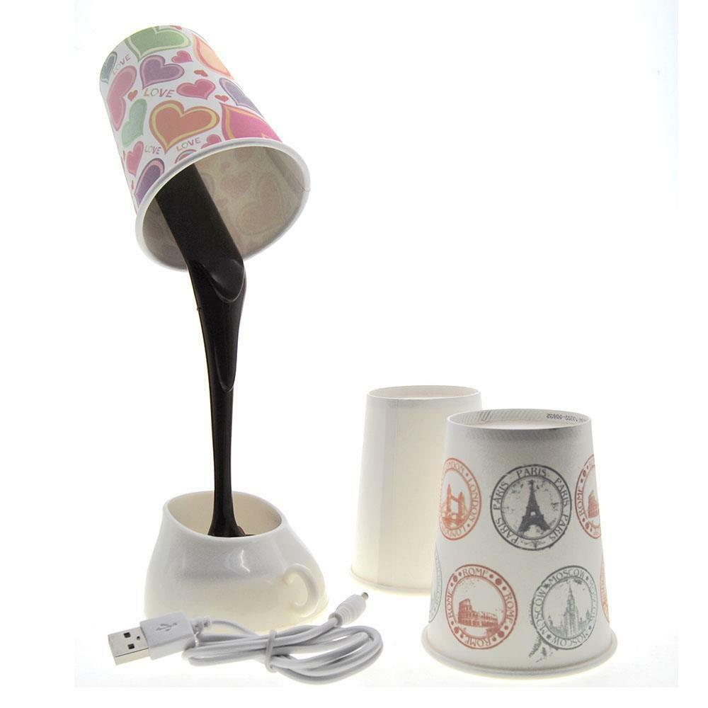 Diy Wall Lamp Led : Novelty Creative DIY USB/AAA Pour Coffee Cup Mug LED Light Home Desk Table Lamp eBay