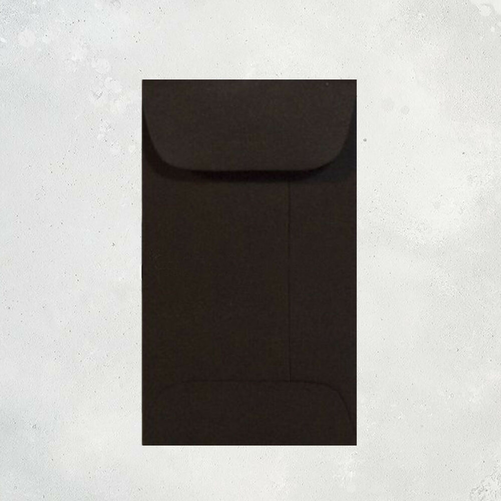 1000 black envelopes  bulk mini gift enclosure  coin