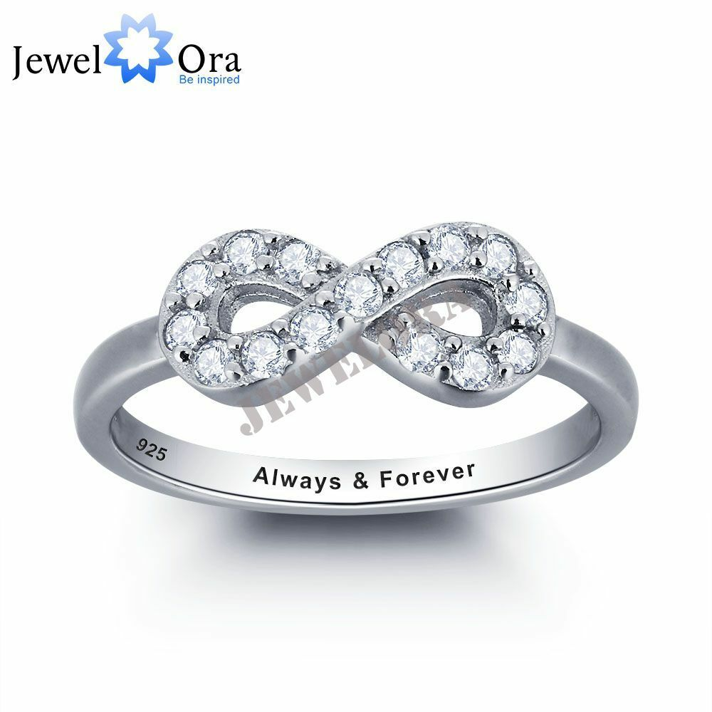 personalized infinity promise rings sterling silver