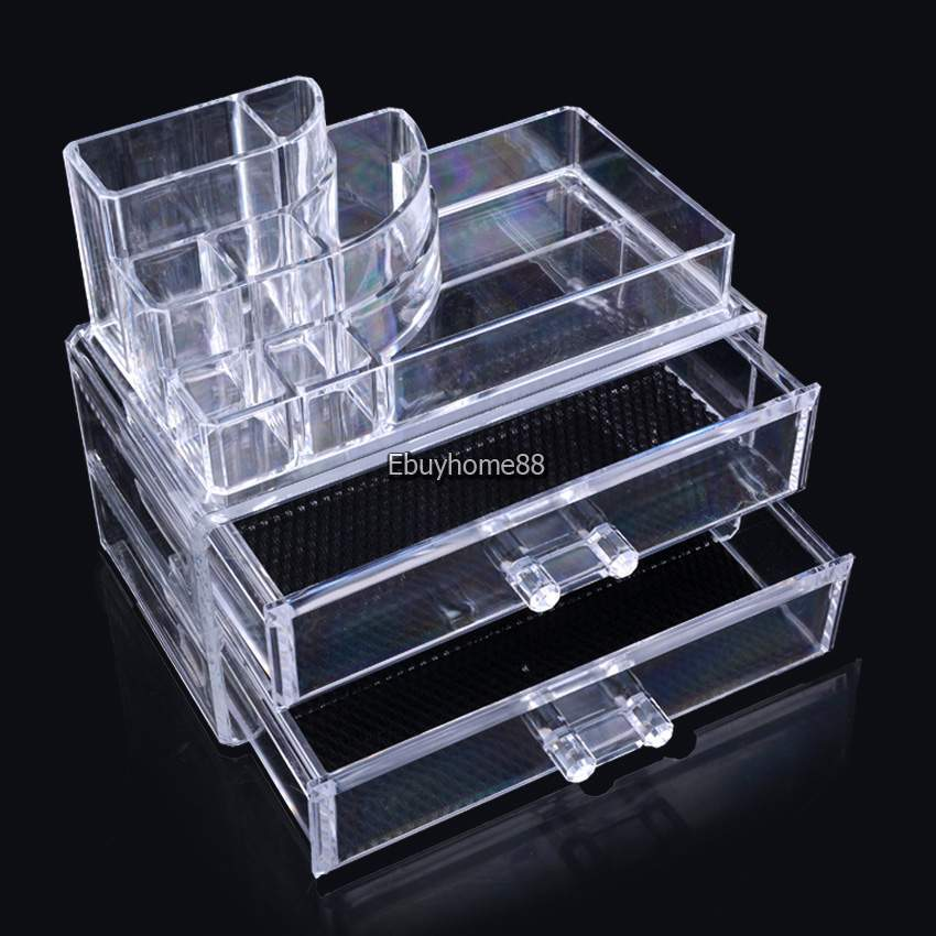 Cosmetic Organizer Holder Drawers Jewelry Storage Box