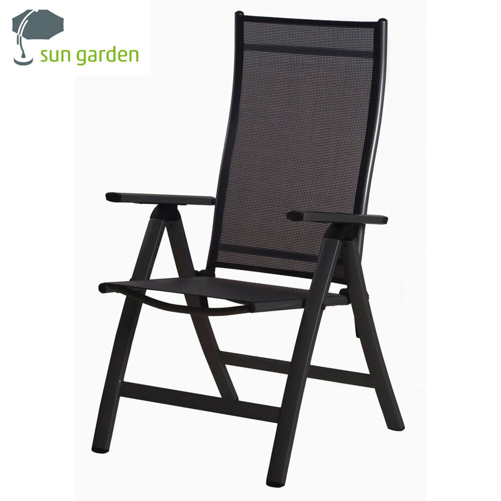 gartenstuhl sun garden london klappsessel in anthrazit. Black Bedroom Furniture Sets. Home Design Ideas