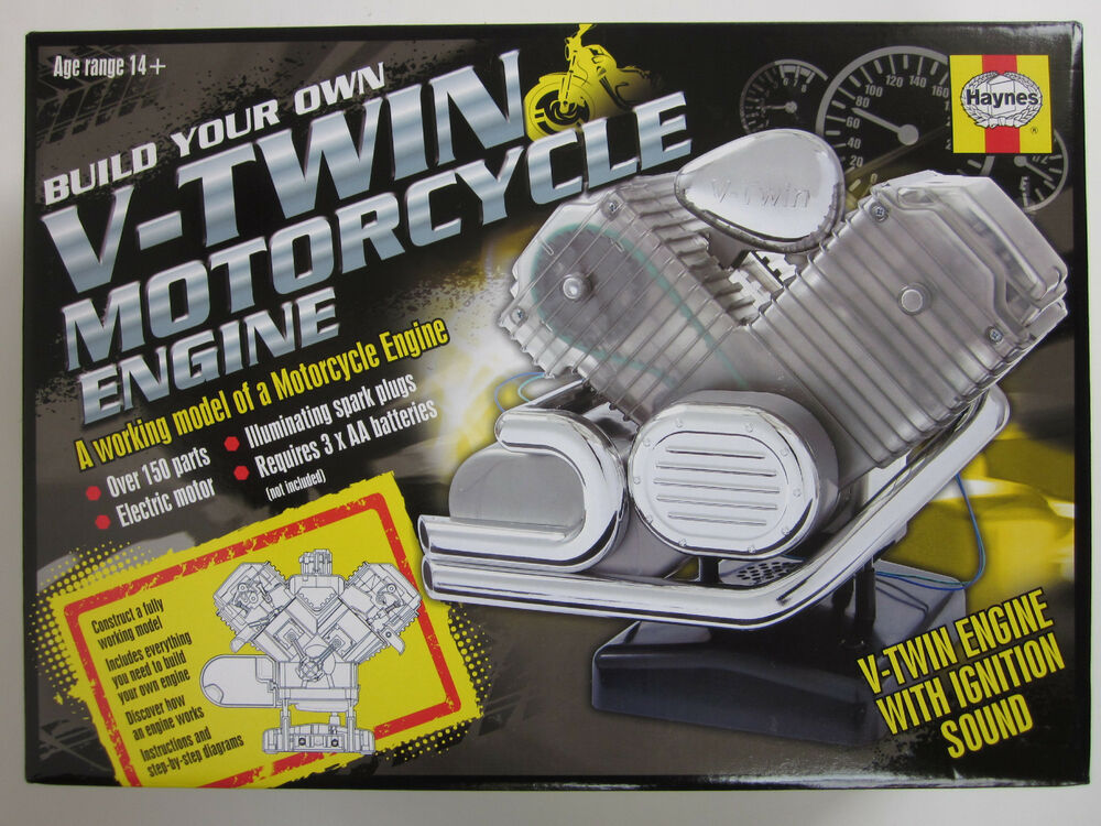 Motorcycle Engine Kits : Visible v twin motorcycle engine motor working model cam