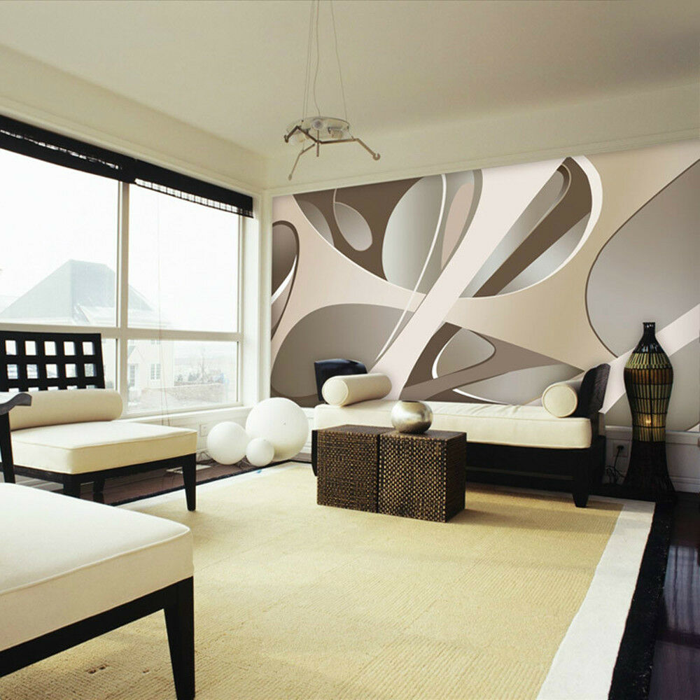 3d wallpaper bedroom living mural roll modern wall for Home wallpaper ebay