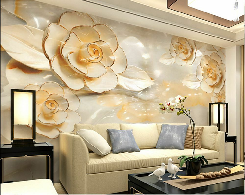3d wallpaper bedroom mural roll modern luxury flower for Images of 3d wallpaper for bedroom