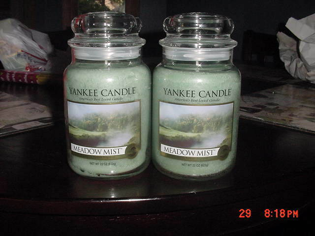 Lot Of 2 Yankee Candle 22 Oz Jars Meadow Mist Ebay