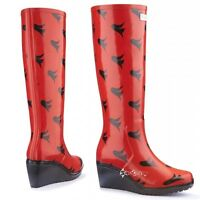 Ladies Wedge Welly Freedom Unique Fit WelliesWellington Boots Shoe Sizes 3-8
