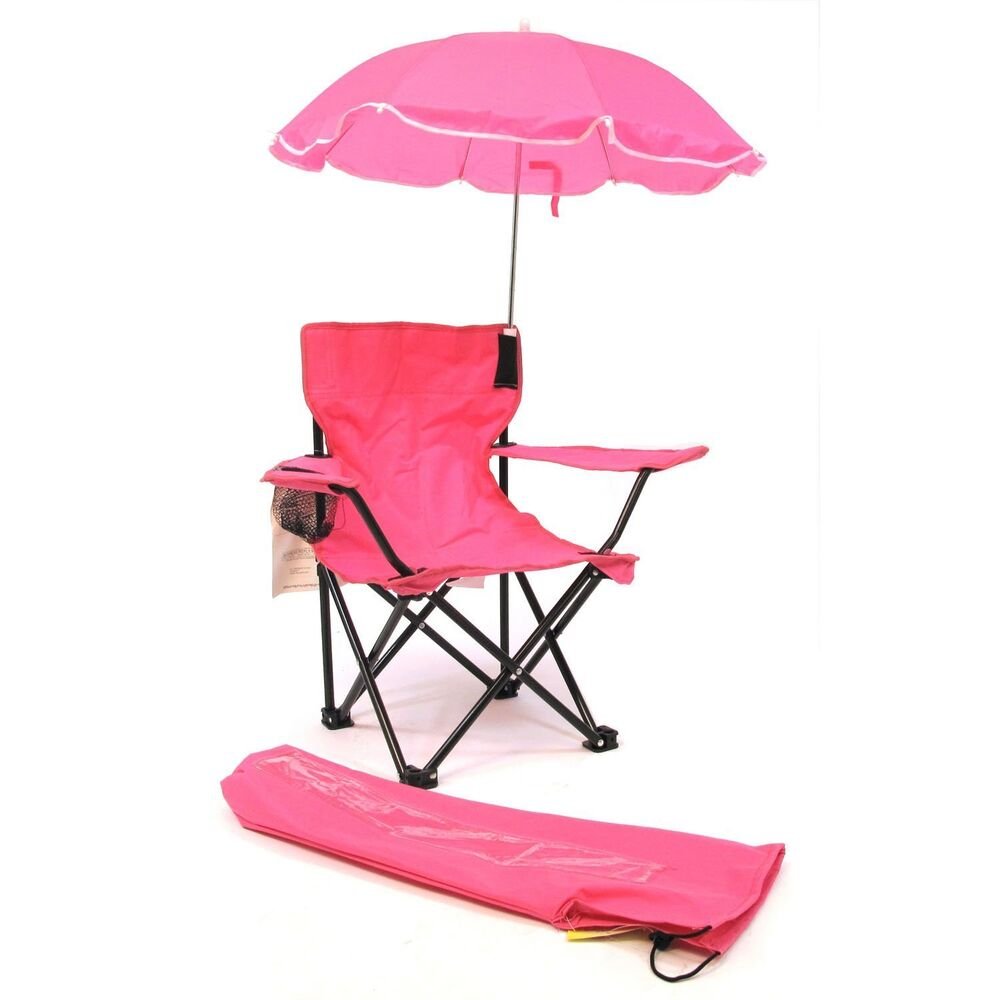 redmon beach baby kids camp chair w carry umbrella matching tote bag hot pink ebay. Black Bedroom Furniture Sets. Home Design Ideas